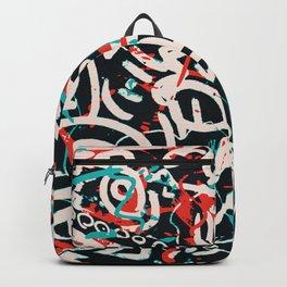 Street Art Pattern Graffiti Post Backpack