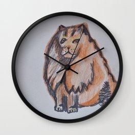 Orange Goddess Wall Clock