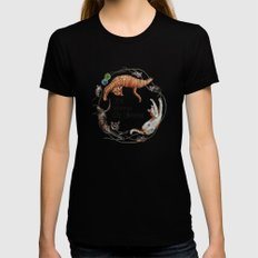 It's Meow Or Never. X-LARGE Black Womens Fitted Tee