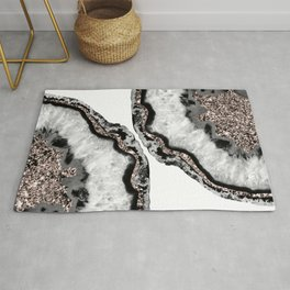 Yin Yang Agate Glitter Glam #2 #gem #decor #art #society6 Rug