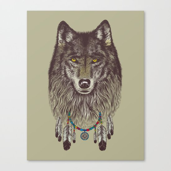 Wind Catcher Wolf Canvas Print