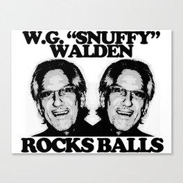 """W.G. """"Snuffy"""" Walden Rocks Balls Canvas Print"""