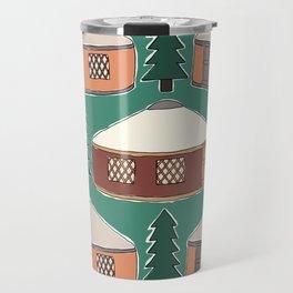Cozy Yurts -n- Pines Travel Mug