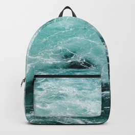 Water Photography | Sea | Ocean | Pattern | Abstract | Digital | Turquoise Backpack