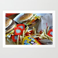 junk food Art Prints featuring Junk Food by Renatta Maniski-Luke