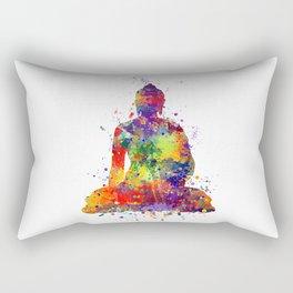 Buddha Watercolor Yoga Poster Zen decor Rectangular Pillow