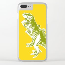 Dino Pop Art - T-Rex - Yellow & Olive Clear iPhone Case