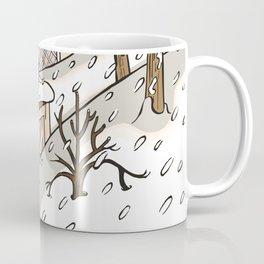 winter landscape sepia Coffee Mug