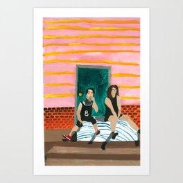 porch bed Art Print