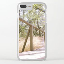 Small Bridge In The Woods Clear iPhone Case