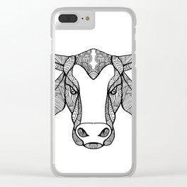 Brahma Bull Head Mandala Clear iPhone Case
