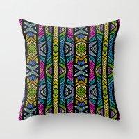 xoxo Throw Pillows featuring XOXO by Klara Acel