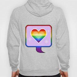 Gay Pride Heart Speech Bubble Hoody