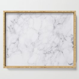 Luxury White Marble Serving Tray