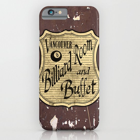 Vintage Vancouver Billiard Sign iPhone & iPod Case