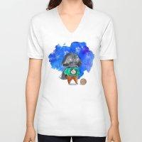 vader V-neck T-shirts featuring Vader by gunberk