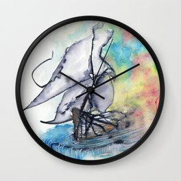 Edge of the Earth Wall Clock
