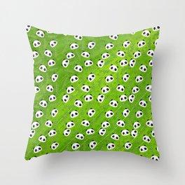Panda and Bamboo Throw Pillow