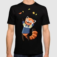 Red Panda 2 SMALL Mens Fitted Tee Black
