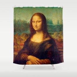 Leonardo da Vinci, Mona Lisa Painting Shower Curtain