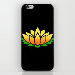 Yellow Lotus iPhone Skin