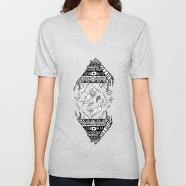 On how the mystical levitation of divers are induced by floating pyramids Unisex V-Neck