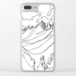 Valhalla Valley :: Single Line Clear iPhone Case