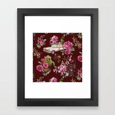 Ecto Floral Framed Art Print