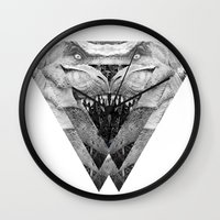 trex Wall Clocks featuring TREX by moln4rt