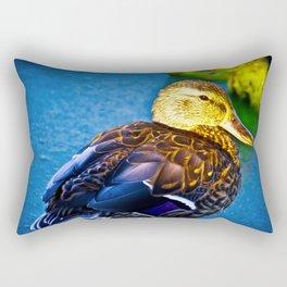 Mallard Duck by the Pond Rectangular Pillow