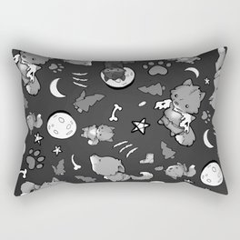 Baby Werewolf Black and White Rectangular Pillow