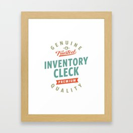 Inventory Clerk Framed Art Print