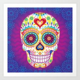 Sugar Skull Art (Luminesce) Art Print