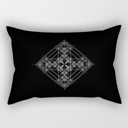 Black sacred geometry design with occult and wicca style Rectangular Pillow