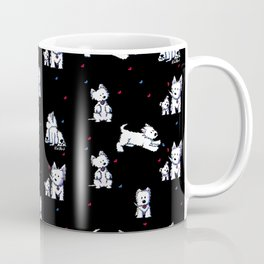 KiniArt Westie Block Party Coffee Mug