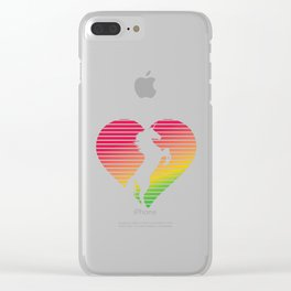 Unicorn Heart Clear iPhone Case