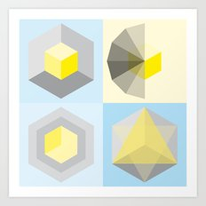 metatron's shape variation Art Print