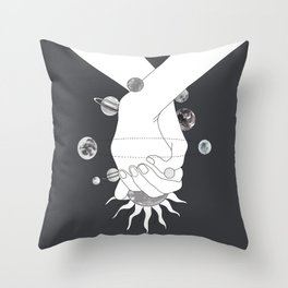 Everything Revolves Around Us II Throw Pillow