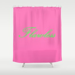 Flawless Pink & Green Shower Curtain