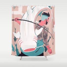 Sir Fish Shower Curtain