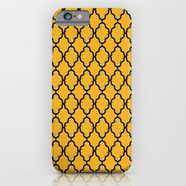 Black Diamond and Gold Grid iPhone Case