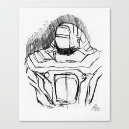 Warbot Sketch #056 Canvas Print