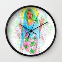 nicki Wall Clocks featuring Virgin Mary (Jane) by AnnaToman