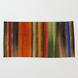 Boho Stripes Beach Towel