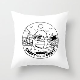 Ghost from the Coast Throw Pillow