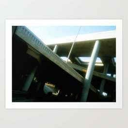 The 110 at the 101 (trilevel) Art Print
