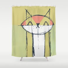Cubist Cat Study #4 by Friztin Shower Curtain