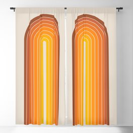 Gradient Arch - Vintage Orange Blackout Curtain