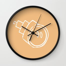 Caramel Town - Yellow Roro Wall Clock
