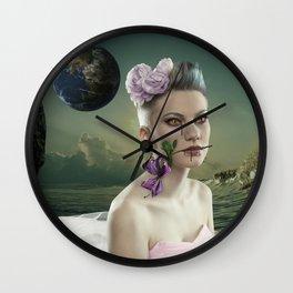 Rose in the alien world Wall Clock